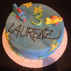 Geburtstagstorte mit Fisch in Karlsruhe